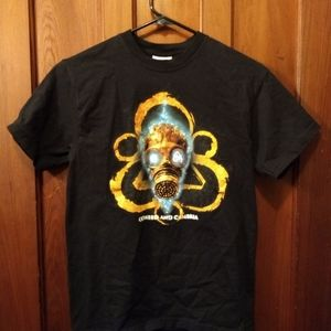 COHEED AND CAMBRIA T-SHIRT - Gas Mask Logo Tee NEW